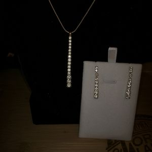 Never worn earrings and necklace set